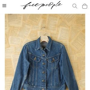 Free People Vintage Lee Jean Jacket 💕